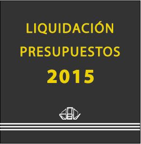 Portada Liquidación Presupuestos 2015
